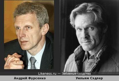 Андрей Фурсенко напоминает актера Уильяма Сэдлера