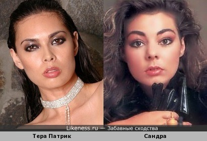 порноактриса Тера Патрик и певица Сандра