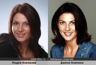Лидия Вележева и Джина Беллман: практически полное сходство
