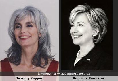 Певица Эммилу Харрис и молодая Хиллари Клинтон,