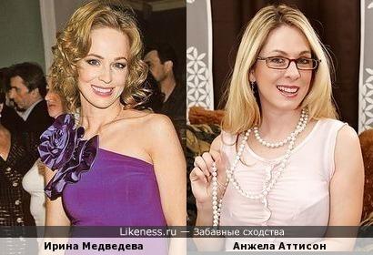 Ирина Медведева и эротическая фотомодель Анжела Аттисон