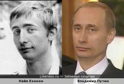 молодой Нейл Хэннон напомнил Владимира Путина средних лет