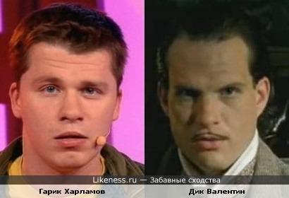 Гарик Харламов похож на Дика Валентина из Electric Six