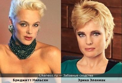 Бриджитт Нильсен и Эрика Элениак - суперблондинки