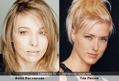 Теа Леони похожа на Анну Легчилову