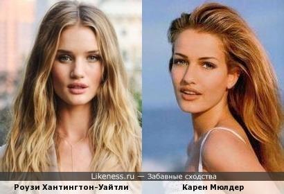 Роузи Хантингтон-Уайтли и Карен Мюлдер