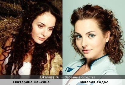 Екатерина Олькина и Валерия Ходос