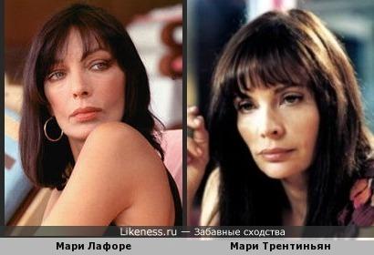 Мари Лафоре и Мари Трентиньян