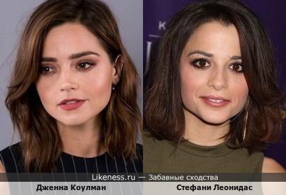 Дженна Коулман и Стефани Леонидас
