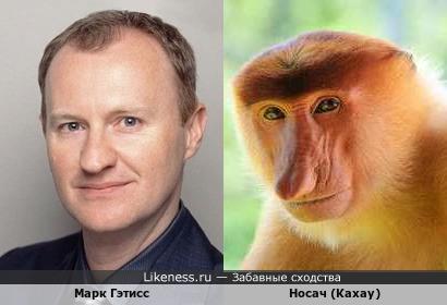 Марк Гэттис напомнил носатую обезьяну из Борнео:)