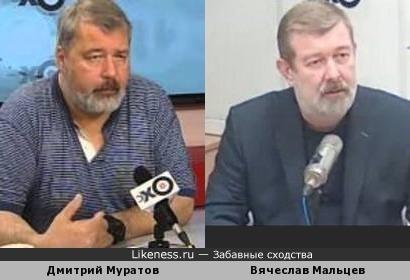 Дмитрий Муратов похож на Вячеслава Мальцева