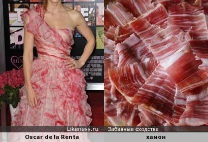Платье Oscar de la Renta и хамон