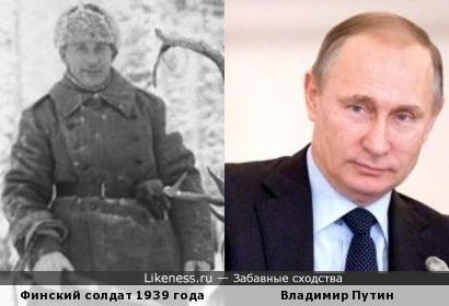 Финский солдат времен Зимней Воны похож на Владимира Путина