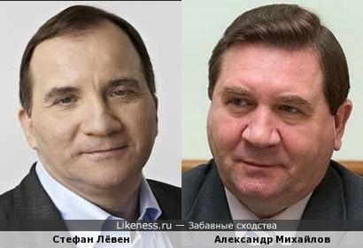 Премьер-министр Швеции Стефан Лёвен и гуребнатор Курской области Александр Михайлов