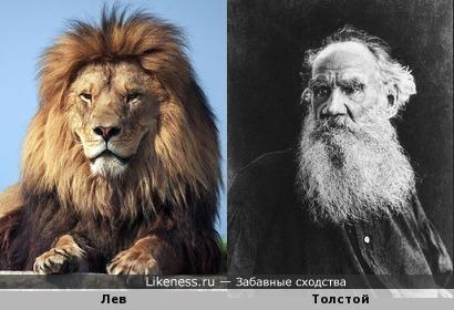 Имя Лев сочетается и похожи с писателем Толстым