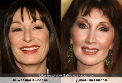 Анжелика Хьюстон и Джоанна Глисон