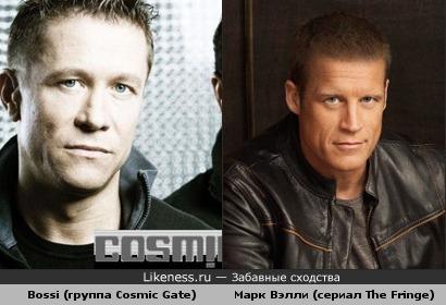 "Bossi (Stefan Bossems) из группы Cosmic Gate похож на актёра Марка Вэлли из сериала ""The Fringe"""