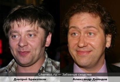 Дмитрий Брекоткин похож на Александра Демидова (Квартет И)