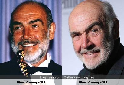 Шон Коннери образца 88 года удивительно мало разницы имеет с Шоном Коннери 2009 го года