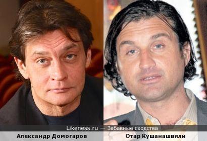 актёр Александр Домогаров и телеведущий Отар Кушанашвили