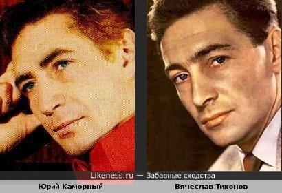 Юрий Каморный похож на Вячеслава Тихонова