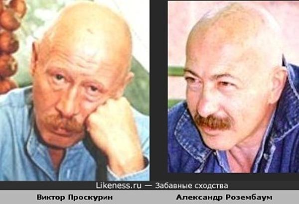Виктор Проскурин похож на Александра Розембаума