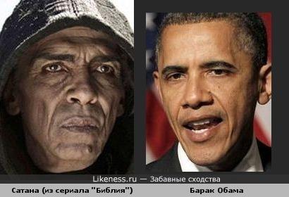 """Сатана из сериала """"Библия"""" похож на Барака Обаму"""