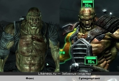 Фокс из Fallout 3 пожож на Супермутанта из той же игры