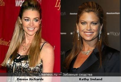 Denise Richards похожа на Kathy Ireland