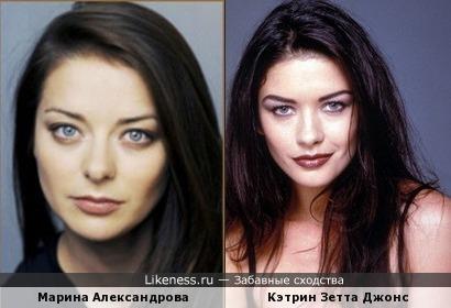 Марина Александрова похожа на Картин Зетта Джонс