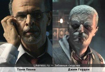 Гордон из игры Batman Arkham Asylum похож на Тони Плану