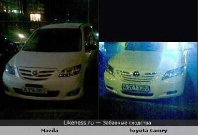 Mazda похожа на Toyota Camry
