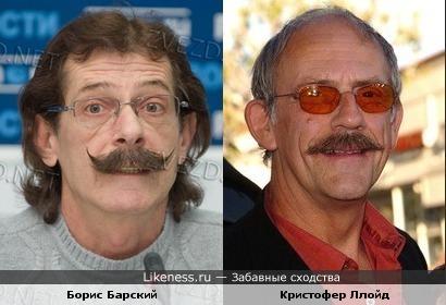 Борис Барский похож на Кристофера Ллойда