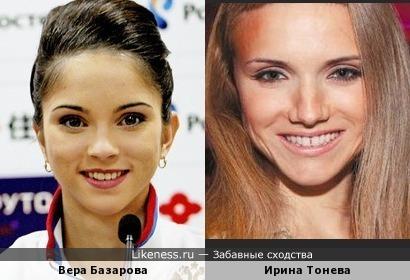 Фигуристка Вера Базарова и Ирина Тонева