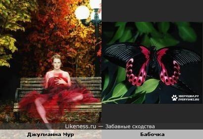 Джулианна Мур в этом платье похожа на бабочку
