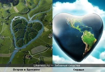 Остров в Британии похож на сердце