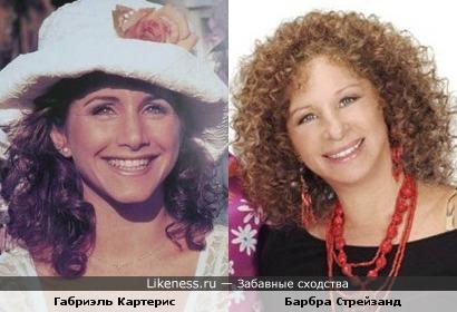 Габриэль Картерис и Барбра Стрейзанд очень похожи