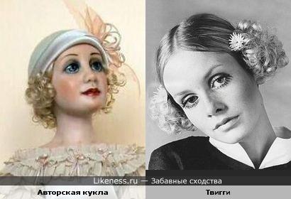 """Авторская кукла """"Шарлотта"""" похожа на модель 60-х Твигги"""