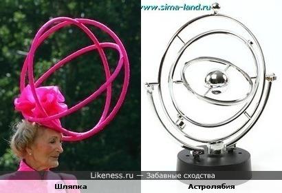 Шляпка напомнила астролябию