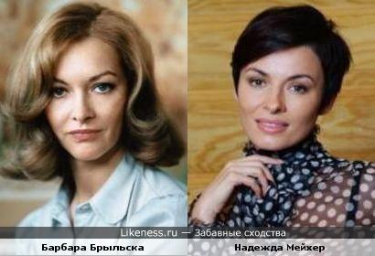 Барбара Брыльска и Надежда Мейхер похожи (вариант 2)