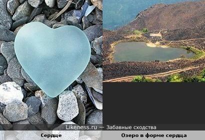 Озеро Нeart of Wayanad похоже на сердце