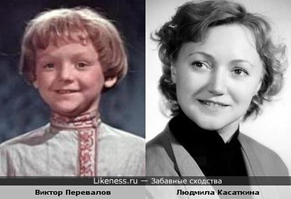 Виктор Перевалов в детстве очень похож на Людмилу Касаткину в молодости