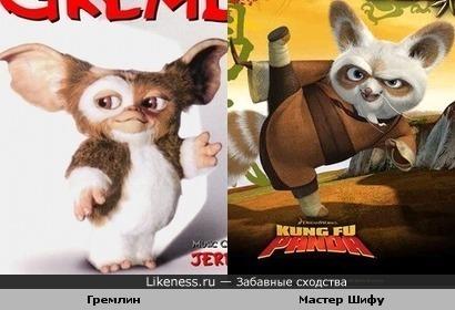 Гремлин мне напомнил мастера Шифу
