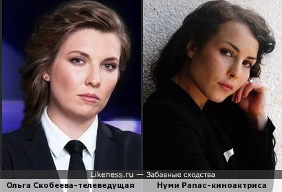 Ольга Скобеева-телеведущая на Российском Телеканале похожа на шведскую кинодиву Нуми Рапас