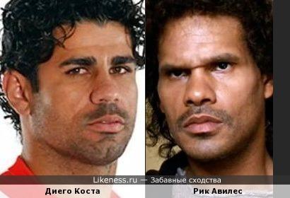 Футболист Диего Коста очень похож на американского актёра Рика Авилеса!