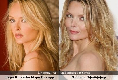 Канадская модель Шера Лоррейн Мэри Бечард в этом ракурсе очень напоминает Мишель Пфайффер!