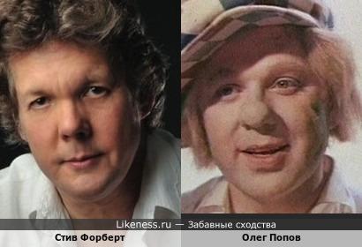 Американский певец и музыкант Стив Форберт и легендарный Олег Попов в молодости - по-моему, сходство очевидно!!!