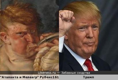 Персонаж картины Рубенса поход на нового президента США