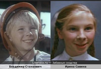 Дети-актёры похожи