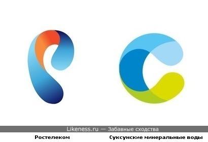 Логотипы Ростелекома и Суксунских минеральных вод